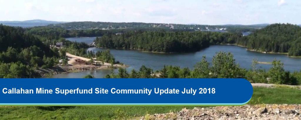 Calahan Mine EPA Superfund Site Update